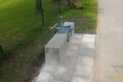 3 betoformos betoniniai suoliukai