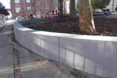 Betoformos betoninė atraminė sienutė