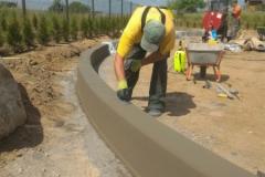Betoninės sienelės liejimas - betonavimas