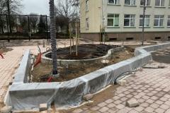 betono sienele gelynams
