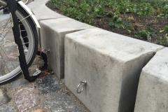 betoninė sienelė klombos