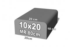 betoninė bordiūro forma 10x20