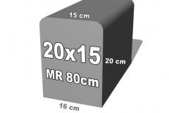 bordiūro forma 20x15