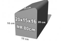 bordiūro forma 20x15x16
