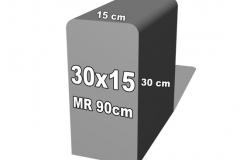 betoninė forma 30x15