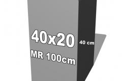 betoninė forma 40x20