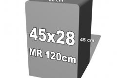 betoninė forma 45x28