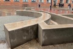 betoniniai liejami elementai mokykloms ir kitoms erdvems