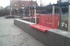 Betoformos betoniniai suoliukai miestui Concrete bench