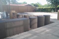 betoniniai elementai žaidimų aiktelėms