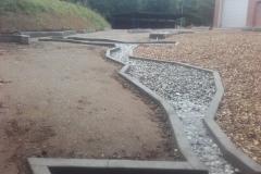 betoniniai elementai vandens latakai