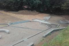 betoniniai vandens latakai laisvalaikio erdvems