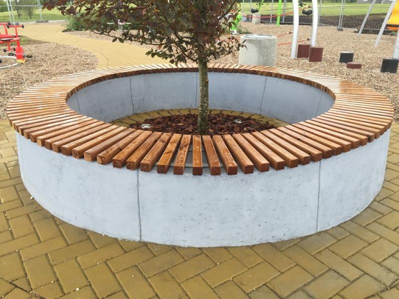 1 Betoformos betoninis suoliukas klomba