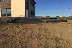2 betoninai betoformos laiptai