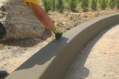 Lenkta betoninė sienelė