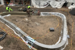 Liejma betonine sienele