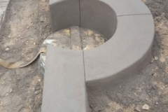 betonine sienele aplink sulini