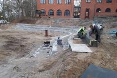 betoniniu sieneliu irengimas slaituose
