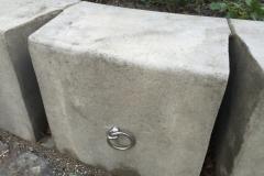 betoninė sienelė dviračių rakinimo vieta
