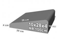 betoninis bordiūras 10x28x4