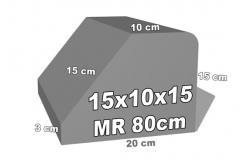 betoninė bordiūro forma 15x10x15