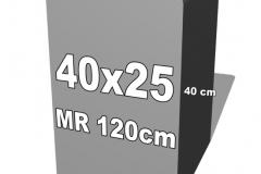 betoninė forma 40x25