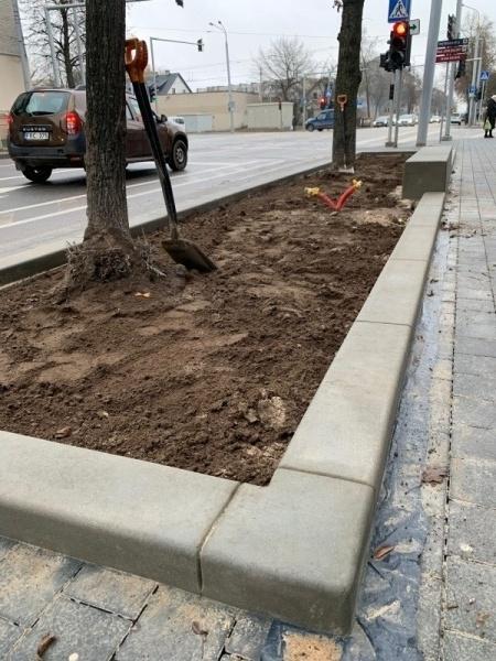 betonines klombos miesto erdvems