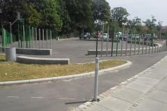 lenktos betoninės sienelės