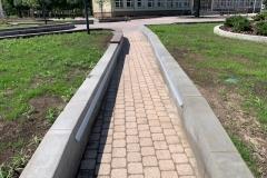 Betonines sieneles parkams