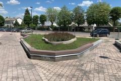 Betono sieneles parkuose