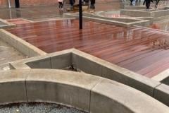 betoniniai elementai laisvalaikio erdvems