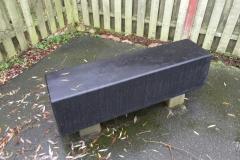 Betoformos betono suoliukas miestui Concrete bench
