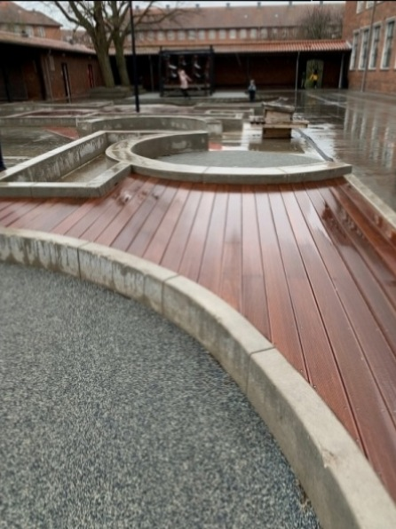 betoniniai elementai vaiku zaidimu akstelems mokyklose