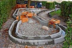 betoniniai vandens latakai