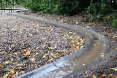 liejamas betoninis vandens latakas